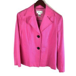 Andrea Viccaro size 8 Pink Solid Textured Blazer